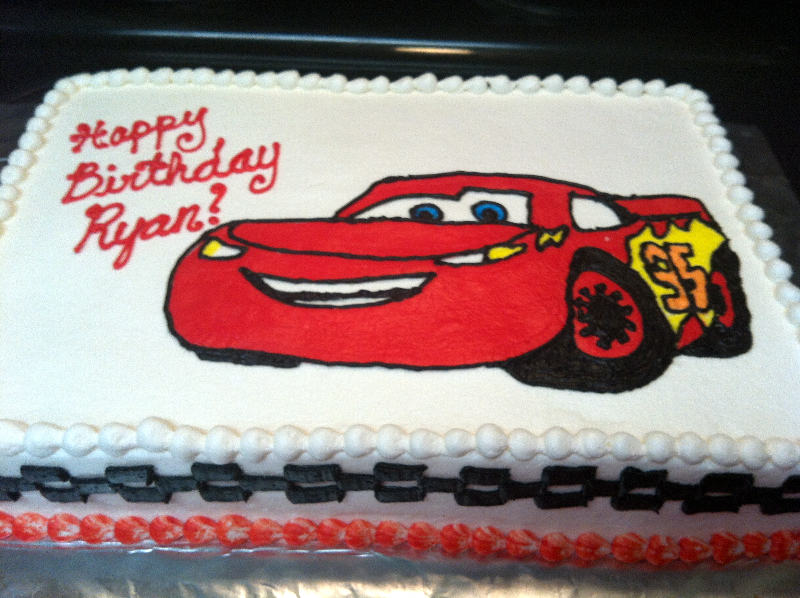 How To Make A Lightning Mcqueen Cake With Buttercream