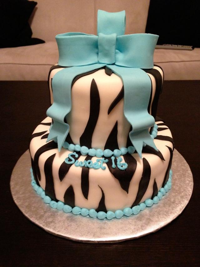 Tiffany Inspired Zebra Cake
