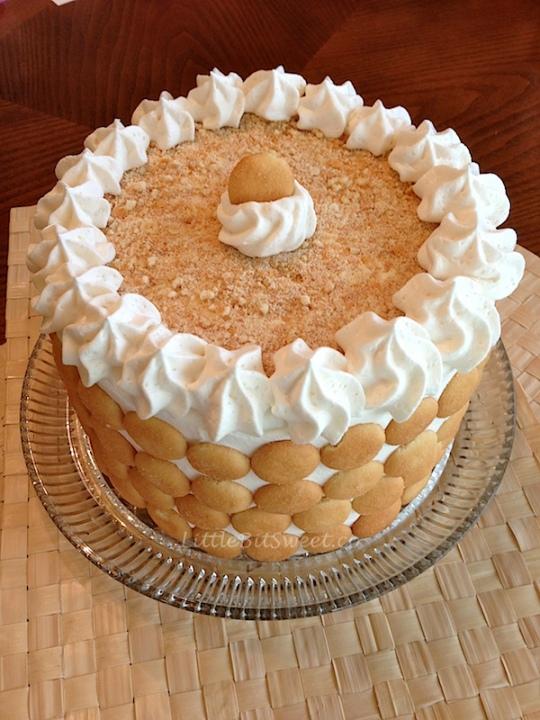 cake banana sheet cake wafer base caramel banana cake double banana ...