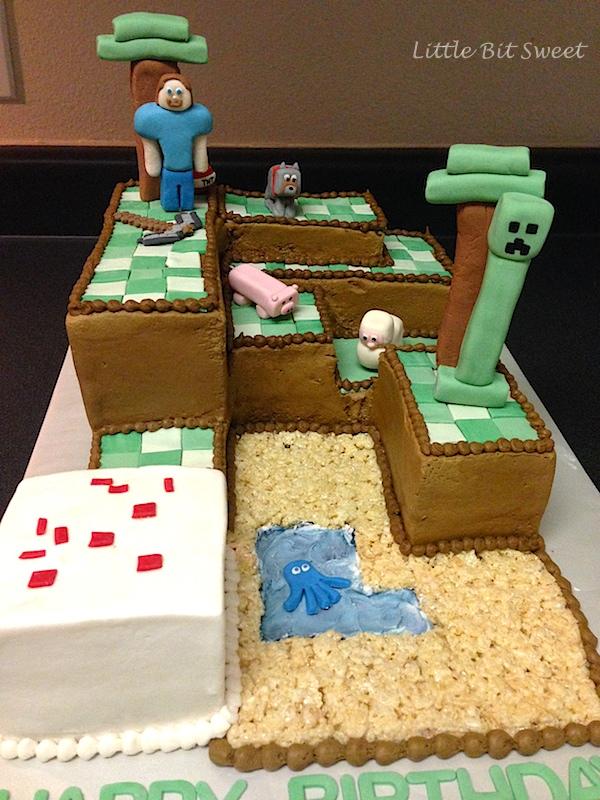 Minecraft Cake Detail